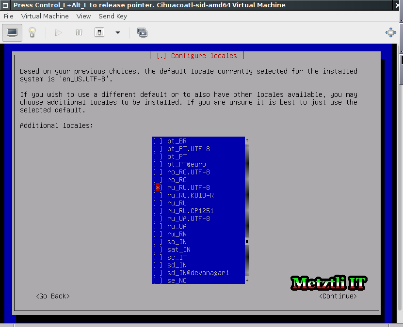 Debian Jessie installation: add ru_RU.UTF-8 locale during installation