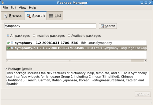 Package Manager: uncheck application to remove from system.
