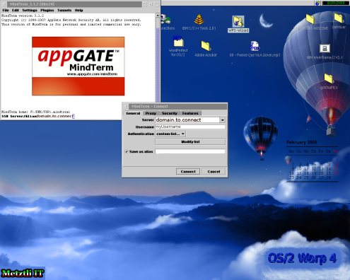 OS/2, GCD Java 1.4.1.x, and AppGate MindTerm.