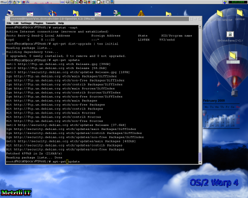 Xen GNU/Linux Debian VPS: refreshing repositories and upgrading distribution.
