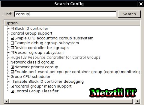 make xconfig: search cgroup