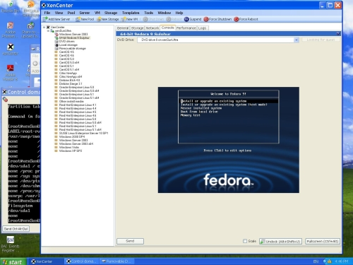Welcome to 64-bit Fedora 9 installation screen.