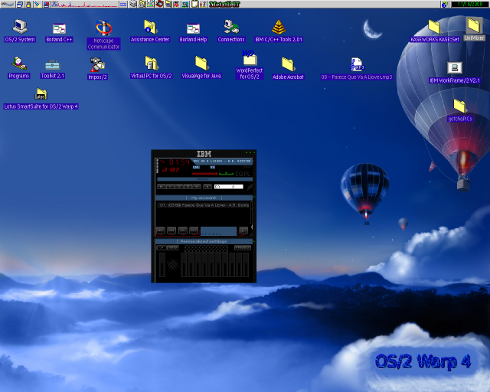 JlGui 2.3.2 with IBM skin and OS/2s Java 1.3.x