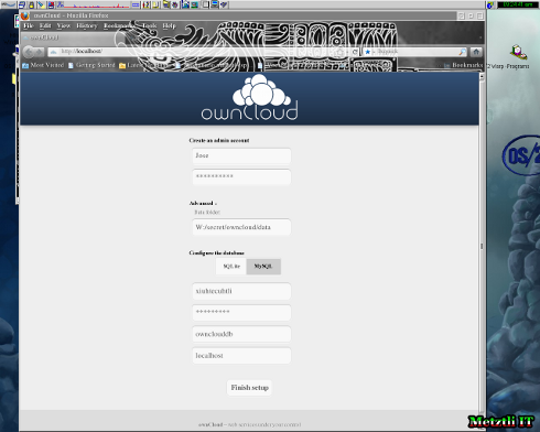 A workaround for an OS/2 limitation advances ownCloud install
