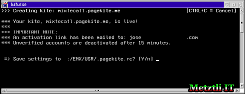 PageKite gives new users 15 minutes to verify their accounts