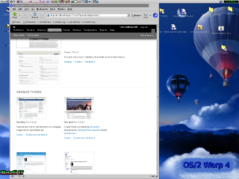 Drupal 7.0 RC 1 installed theme: Enable/and set default