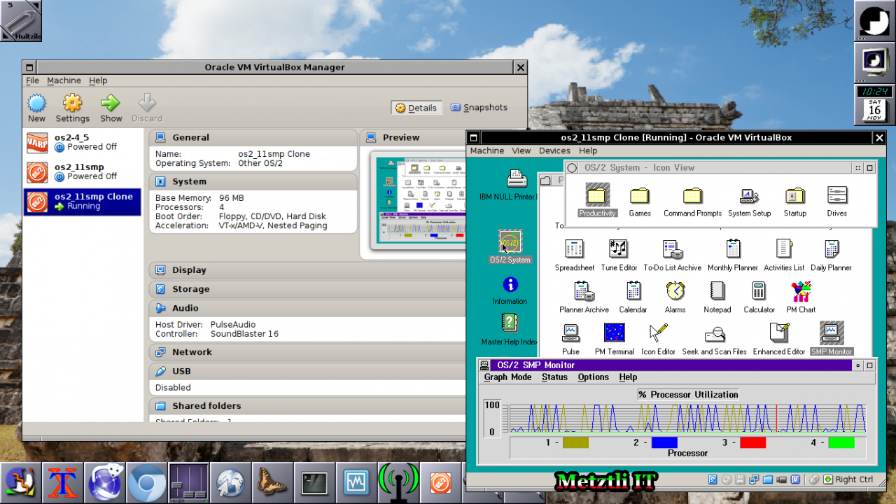 IBM OS/2 2.11 SMP on Oracle's VirtualBox 4.3.2