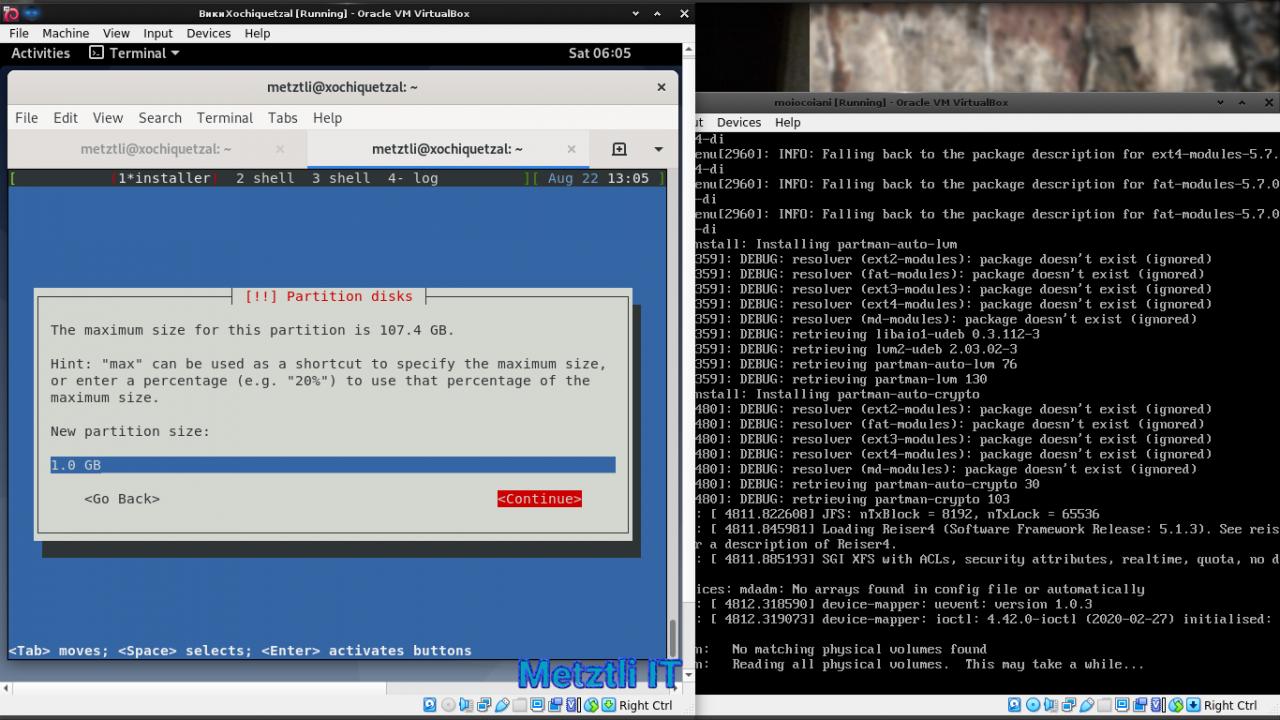 Reiser5 Moiocoiani: Metztli Reiser4, Software Framework Release Number (SFRN) 5.1.3 Debian installer
